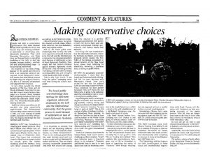 Making conservative choices - JPost - 21 Jan 2013