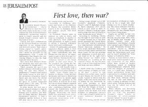 first love then war w Obama - JPost - 22 March 2013