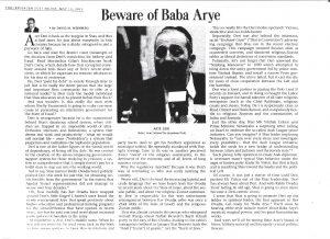 Beware of Baba Arye-JPost-10 May2013