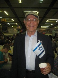 """Rabbi Pechman z""""l on the day of his aliyah, four years ago."""