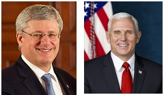 Stephen Harper and Mike Pence